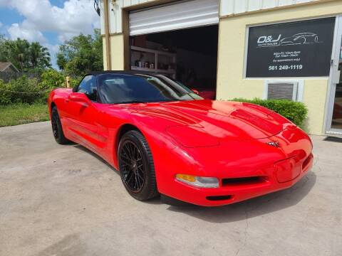 2002 Chevrolet Corvette for sale at O & J Auto Sales in Royal Palm Beach FL