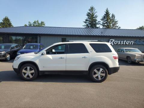2010 GMC Acadia for sale at ROSSTEN AUTO SALES in Grand Forks ND