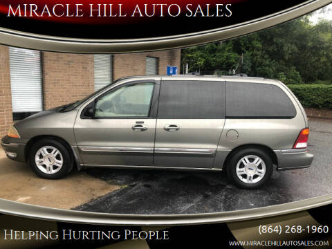 2002 Ford Windstar for sale at MIRACLE HILL AUTO SALES in Greenville SC