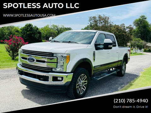 2017 Ford F-250 Super Duty for sale at SPOTLESS AUTO LLC in San Antonio TX