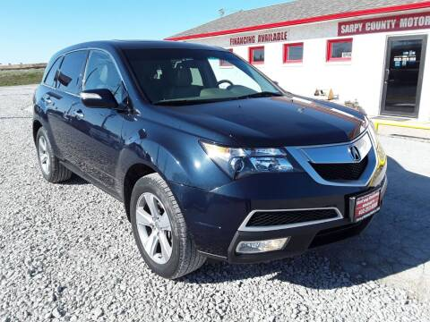 2011 Acura MDX for sale at Sarpy County Motors in Springfield NE