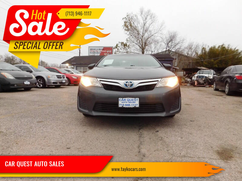 2013 Toyota Camry Hybrid for sale at CAR QUEST AUTO SALES in Houston TX