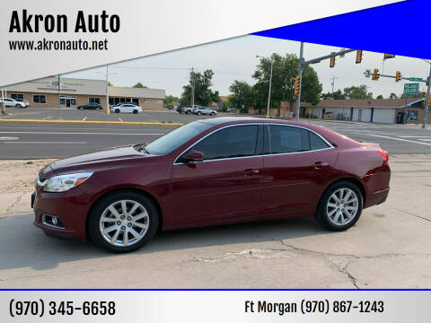 2015 Chevrolet Malibu for sale at Akron Auto - Fort Morgan in Fort Morgan CO