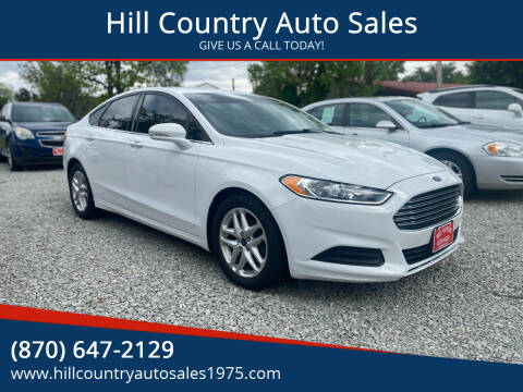 2016 Ford Fusion for sale at Hill Country Auto Sales in Maynard AR