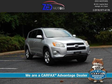 2010 Toyota RAV4 for sale at Zed Motors in Raleigh NC