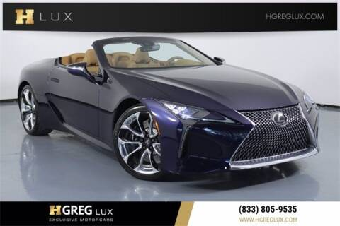 2021 Lexus LC 500 Convertible for sale at HGREG LUX EXCLUSIVE MOTORCARS in Pompano Beach FL