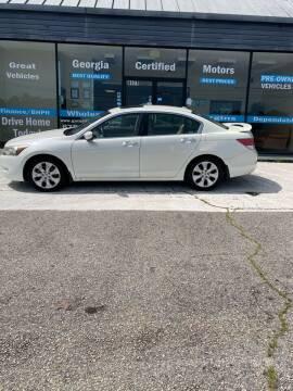 2009 Honda Accord for sale at Georgia Certified Motors in Stockbridge GA