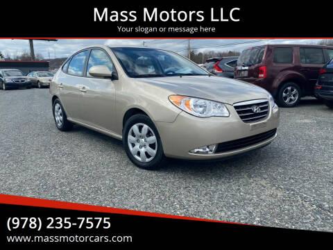 2008 Hyundai Elantra for sale at Mass Motors LLC in Worcester MA