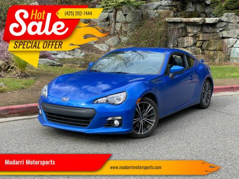 2014 Subaru BRZ for sale at Mudarri Motorsports in Kirkland WA