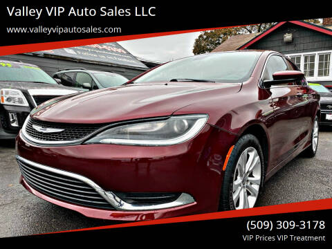 2015 Chrysler 200 for sale at Valley VIP Auto Sales LLC in Spokane Valley WA
