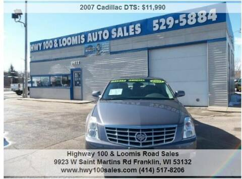 2007 Cadillac DTS for sale at Highway 100 & Loomis Road Sales in Franklin WI