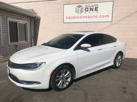 2015 Chrysler 200 for sale at SQUARE ONE AUTO LLC in Murray UT