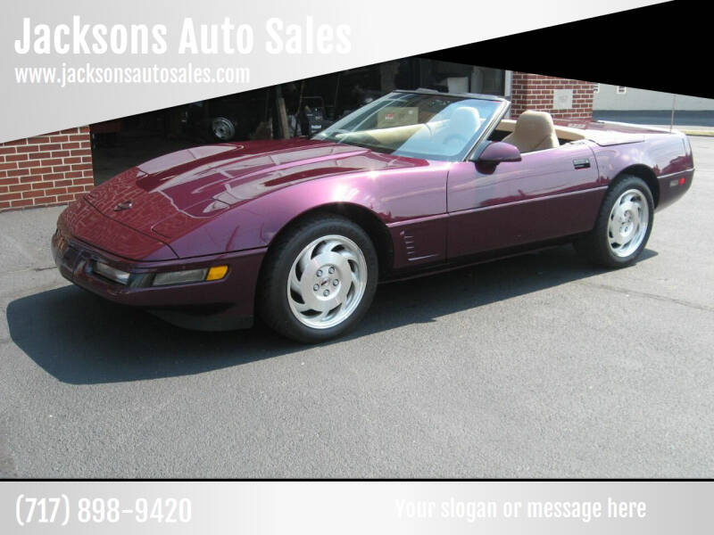1995 Chevrolet Corvette for sale at Jacksons Auto Sales in Landisville PA
