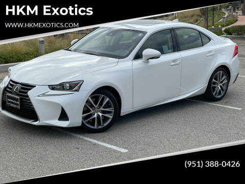 2018 Lexus IS 300 for sale at HKM Exotics in Corona CA