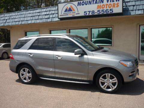 2012 Mercedes-Benz M-Class for sale at Mountain View Motors Inc in Colorado Springs CO