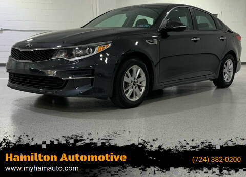 2017 Kia Optima for sale at Hamilton Automotive in North Huntingdon PA