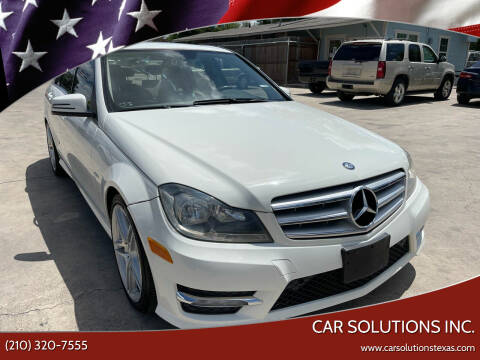 2012 Mercedes-Benz C-Class for sale at Car Solutions Inc. in San Antonio TX