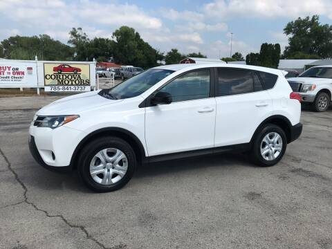 2013 Toyota RAV4 for sale at Cordova Motors in Lawrence KS