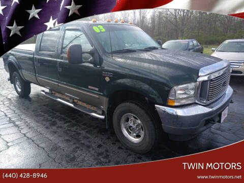2003 Ford F-350 Super Duty for sale at TWIN MOTORS in Madison OH
