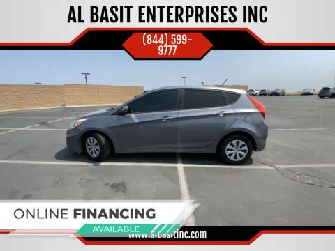 2015 Hyundai Accent for sale at AL BASIT ENTERPRISES INC in Riverside CA