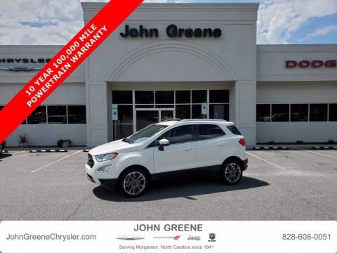 2020 Ford EcoSport for sale at John Greene Chrysler Dodge Jeep Ram in Morganton NC