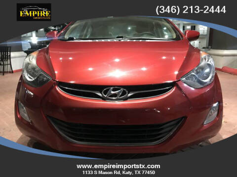 2013 Hyundai Elantra for sale at EMPIREIMPORTSTX.COM in Katy TX