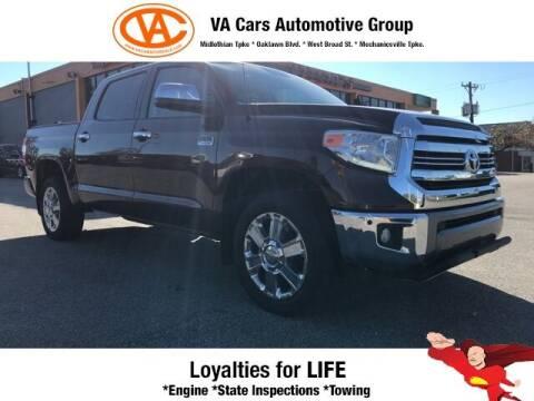 2017 Toyota Tundra for sale at VA Cars Inc in Richmond VA