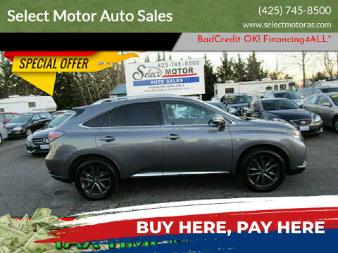 2013 Lexus RX 350 for sale at Select Motor Auto Sales in Lynnwood WA