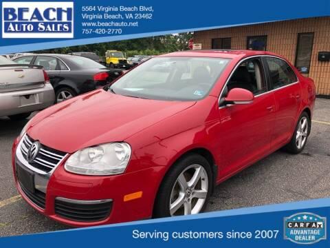 2010 Volkswagen Jetta for sale at Beach Auto Sales in Virginia Beach VA