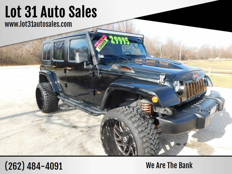 2007 Jeep Wrangler Unlimited for sale at Lot 31 Auto Sales in Kenosha WI