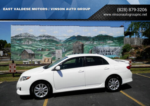 2010 Toyota Corolla for sale at EAST VALDESE MOTORS / VINSON AUTO GROUP in Valdese NC