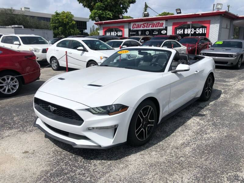 2020 Ford Mustang for sale at CARSTRADA in Hollywood FL