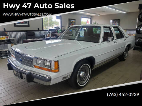 1989 Ford LTD Crown Victoria for sale at Hwy 47 Auto Sales in Saint Francis MN