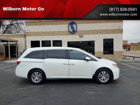2015 Honda Odyssey for sale at Wilborn Motor Co in Fort Worth TX