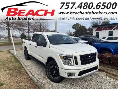 2018 Nissan Titan for sale at Beach Auto Brokers in Norfolk VA