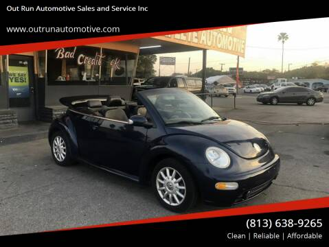 2004 Volkswagen New Beetle Convertible for sale at Out Run Automotive Sales and Service Inc in Tampa FL