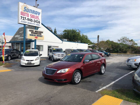 2012 Chrysler 200 for sale at Sunray Auto Sales Inc. in Holiday FL