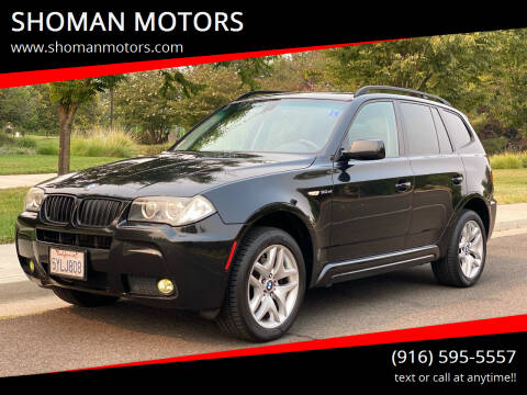 2007 BMW X3 for sale at SHOMAN MOTORS in Davis CA