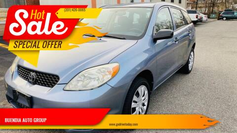2004 Toyota Matrix for sale at BUENDIA AUTO GROUP in Hasbrouck Heights NJ