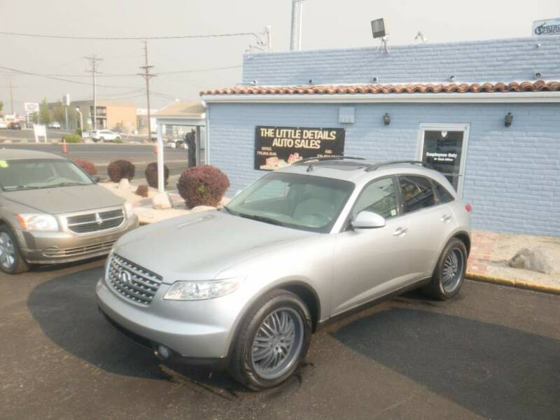 2005 Infiniti FX35 for sale at The Little Details Auto Sales in Reno NV