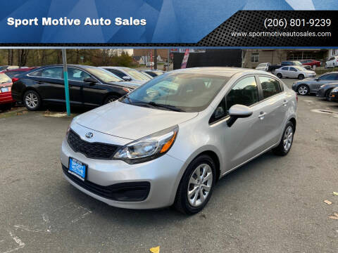 2013 Kia Rio for sale at Sport Motive Auto Sales in Seattle WA
