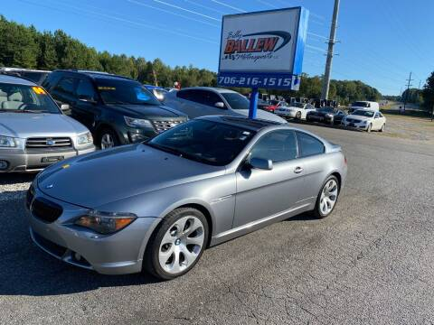 2007 BMW 6 Series for sale at Billy Ballew Motorsports in Dawsonville GA