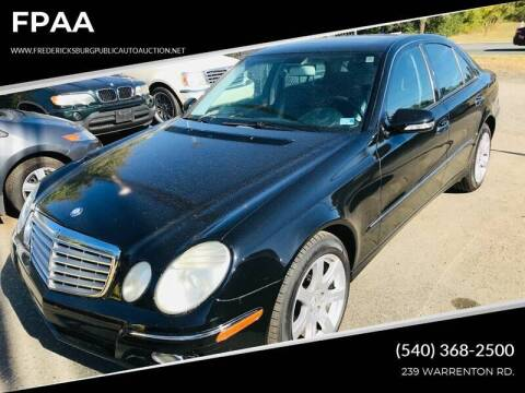 2007 Mercedes-Benz E-Class for sale at FPAA in Fredericksburg VA