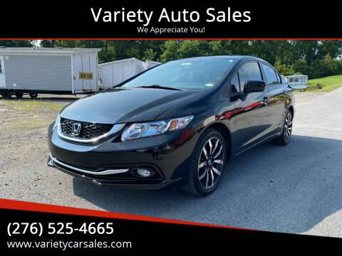 2015 Honda Civic for sale at Variety Auto Sales in Abingdon VA