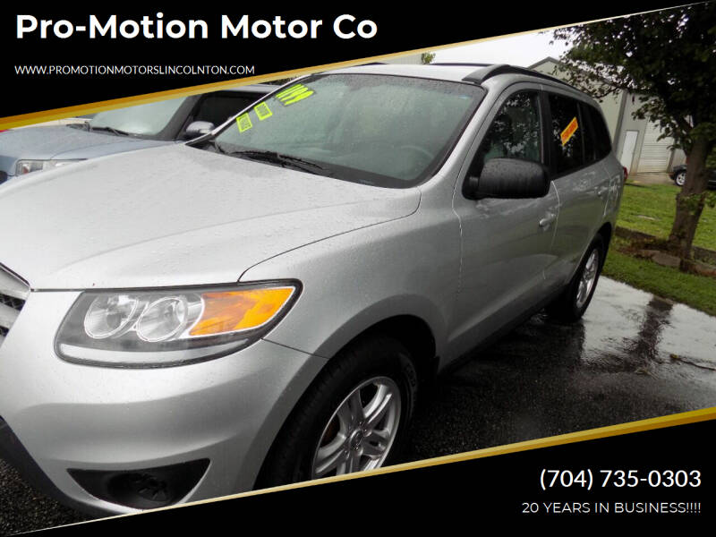 2012 Hyundai Santa Fe for sale at Pro-Motion Motor Co in Lincolnton NC