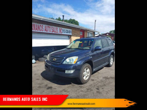 2003 Lexus GX 470 for sale at HERMANOS AUTO SALES INC in Hamilton OH
