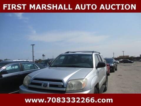 2004 Toyota 4Runner for sale at First Marshall Auto Auction in Harvey IL