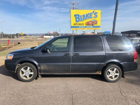 2008 Chevrolet Uplander for sale at Blake's Auto Sales in Rice Lake WI