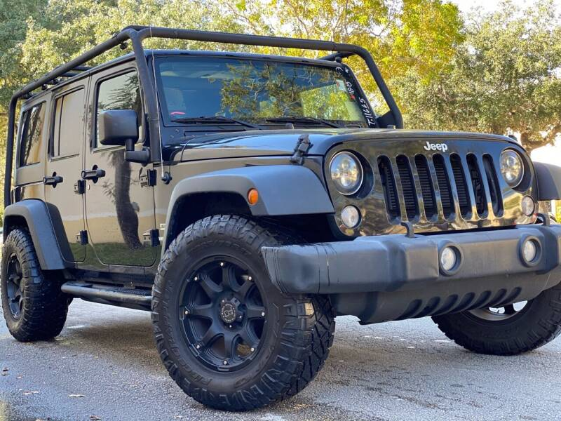 2015 Jeep Wrangler Unlimited for sale at HIGH PERFORMANCE MOTORS in Hollywood FL