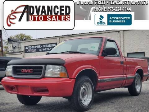 2002 GMC Sonoma for sale at Advanced Auto Sales in Tewksbury MA